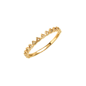 14k gold cognac diamond  crown ring - LODAGOLD
