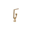14k yellow gold diamond Charm&Bar Huggie Hoop - LODAGOLD