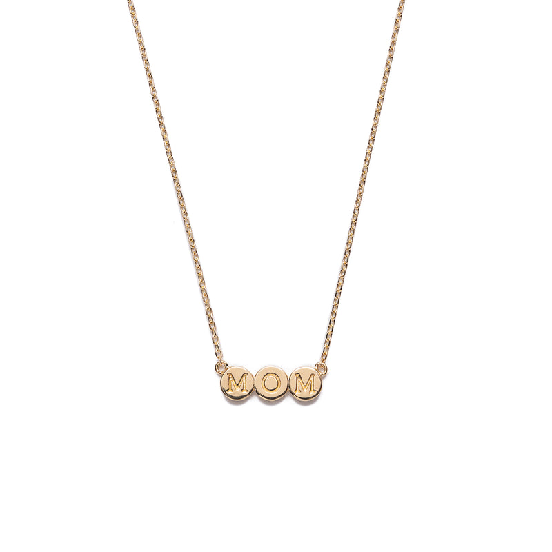 "14k gold ""MOM"" necklace - LODAGOLD"