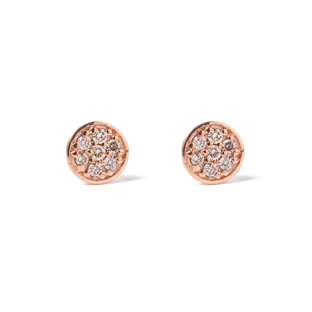 14k gold cognac diamonds earrings - LODAGOLD