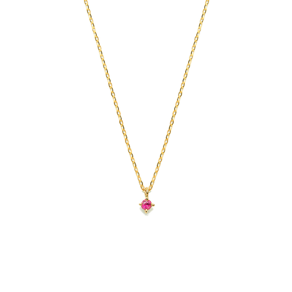 14k gold Ruby necklace - LODAGOLD