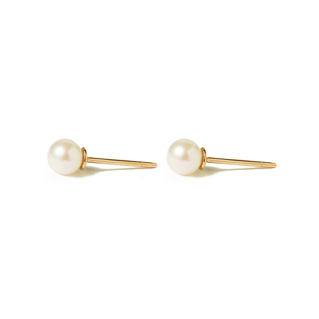 14k gold pearl earrings - LODAGOLD