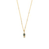 14k gold Blue&Grey Diamond Necklace - LODAGOLD