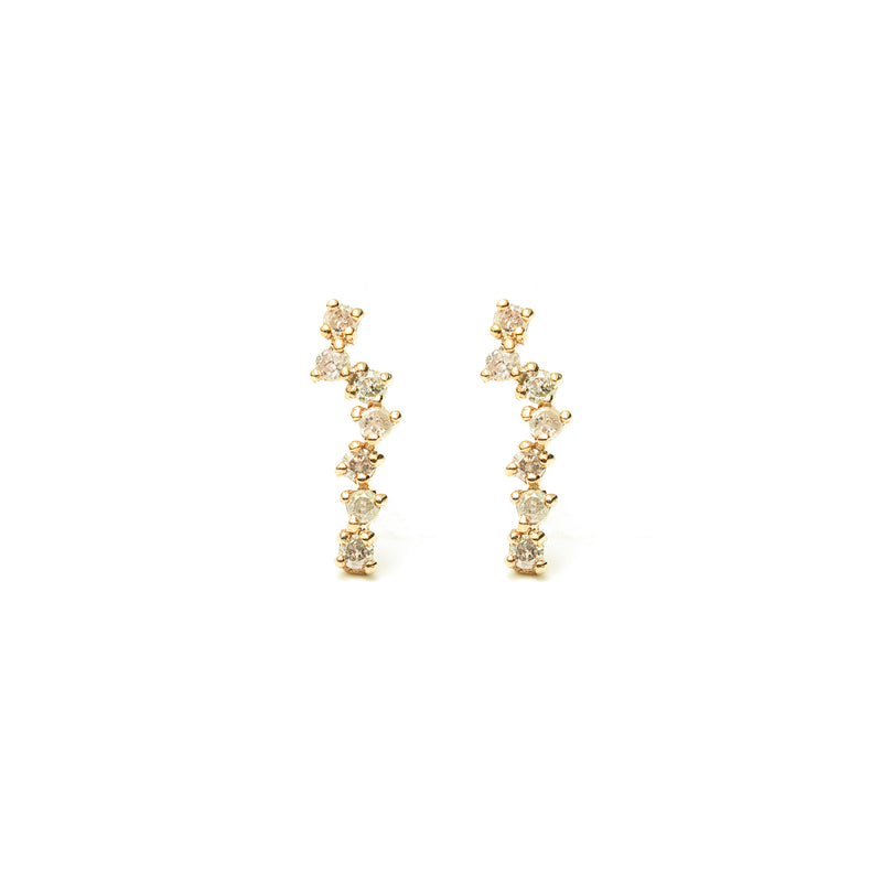 14k gold diamond constellation stud earrings - LODAGOLD