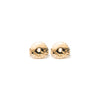 14k gold grey&black diamond stud earrings - LODAGOLD