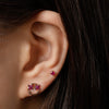 14k gold Ruby Emoji single stud earring - LODAGOLD