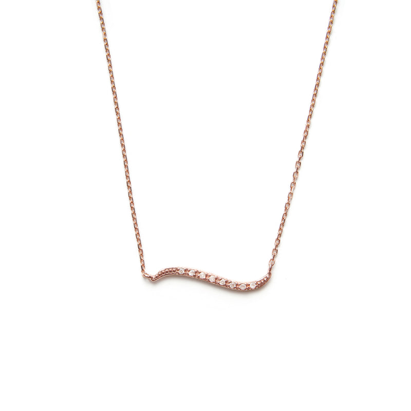 14k gold grey diamond milky way Necklace - LODAGOLD