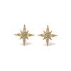 14k gold lemon diamond starburst stud earrings - LODAGOLD