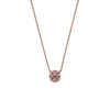 14k gold blue diamond Necklace - LODAGOLD