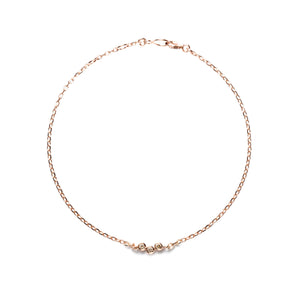 14k gold cognac diamond circle bracelet - LODAGOLD