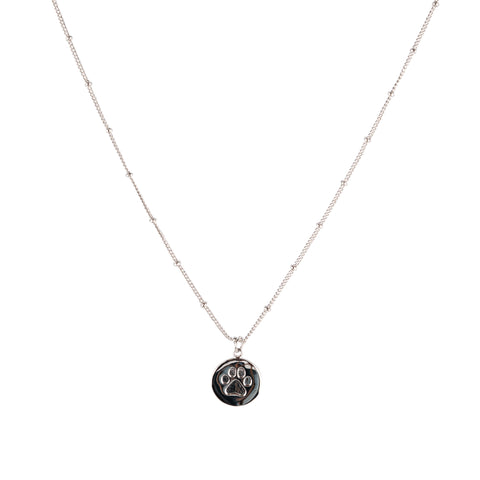 ALL PAWS ON DECK Necklace in Silver