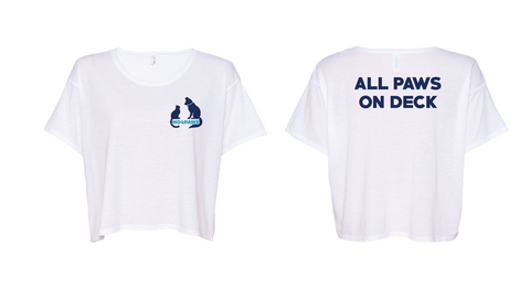 Women's ALL PAWS ON DECK Crop T-Shirt
