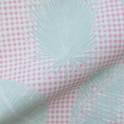 Gingham Jungle // Pink Sage
