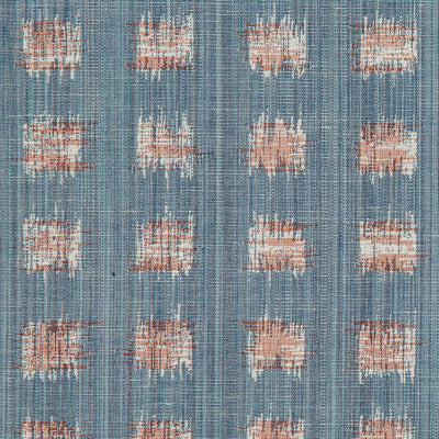 Gridded Ikat // Blue Pink