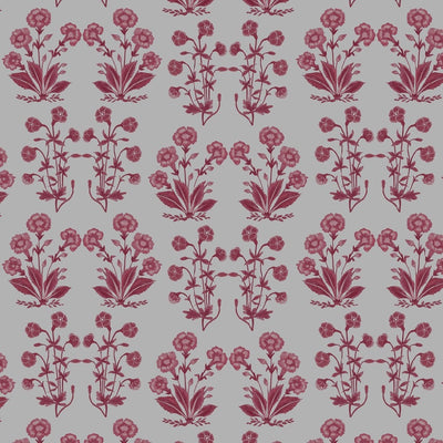 Mughal Floral Stripe // Berry // Oyster