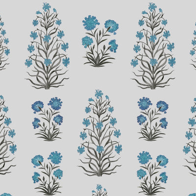 Mughal Meadow // Blue // Oyster