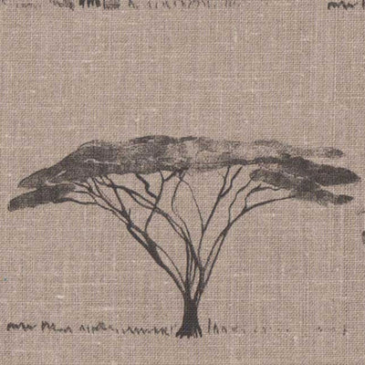Botswana Trees // Charcoal on Flax