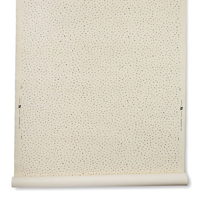 Painted Dot Grasscloth // Gray/Natural