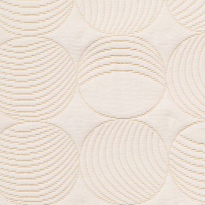 Quilted Circles // Cream/Gold