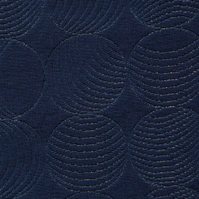 Quilted Circles // Navy/Gold