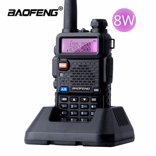 Baofeng UV-5R 8 WATTS Tri-Power Walkies Talkie UHF/VHF