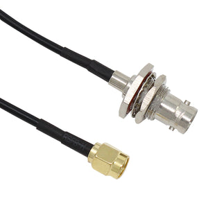 "Antenna Cable SMA Male to BNC Female Plug Adapter Pigtail Cable 13"" -  2 Pack"