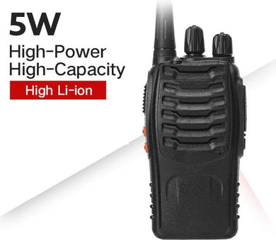 Walkie Talkie 2 PACK - WALL CHARGED - UHF FREQ ONLY