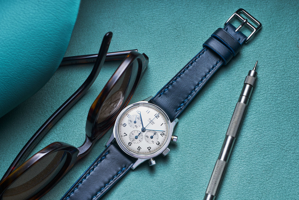 Blue Buttero on a vintage Gallet