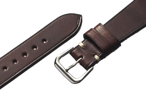 Havana Brown Harness Leather Watch Strap - David Lane Design