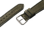 Olive Pebble Grain Calfskin Watch Strap - David Lane Design