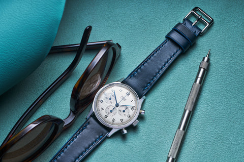 Marine Blue Goatskin Watch Strap