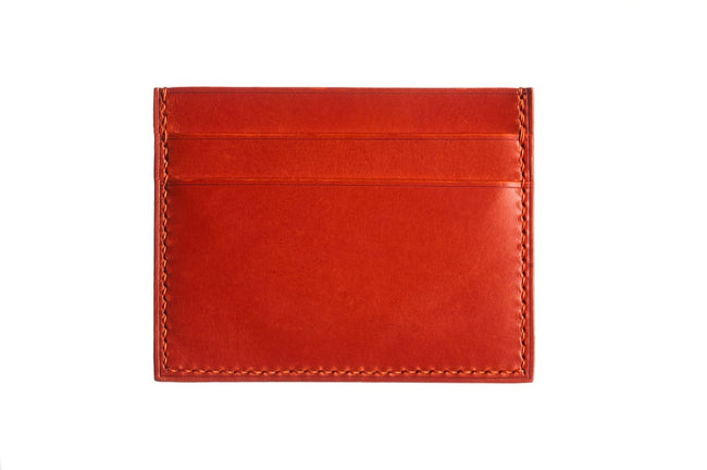 Blaze Orange Buttero Slim Card Case - David Lane Design