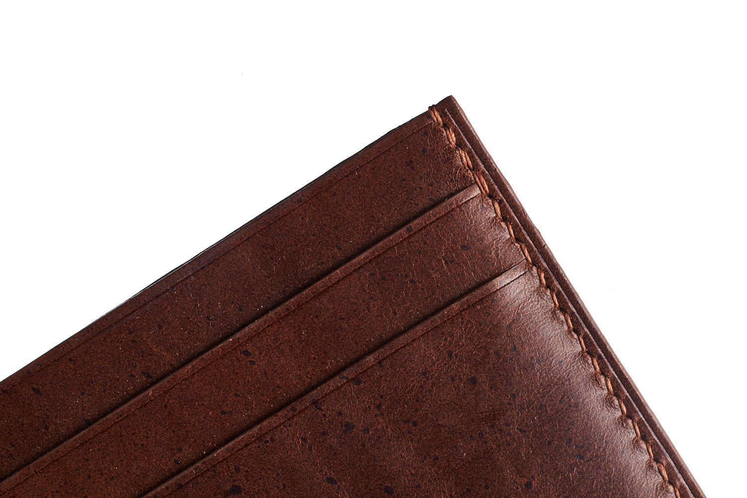 Dark Brown Buttero Slim Card Case - David Lane Design