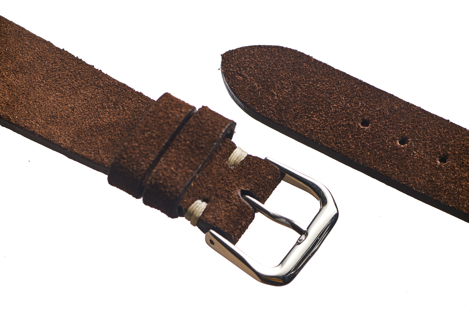 Dark Brown Suede Watch Strap - David Lane Design