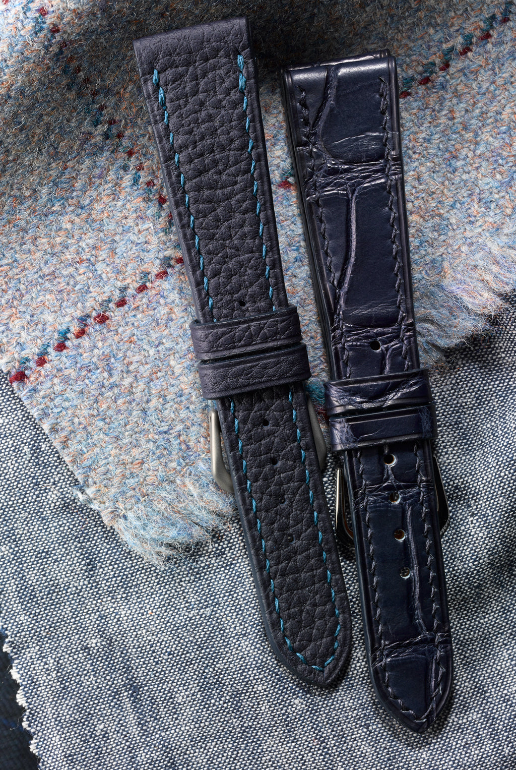 Navy Alpine Shrunken Calf Watch Strap - David Lane Design