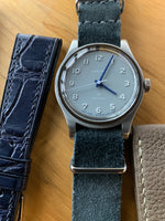 Slate Grey Suede NATO Strap - David Lane Design