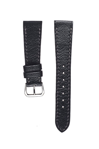 Olive Pebble Grain Calfskin Watch Strap