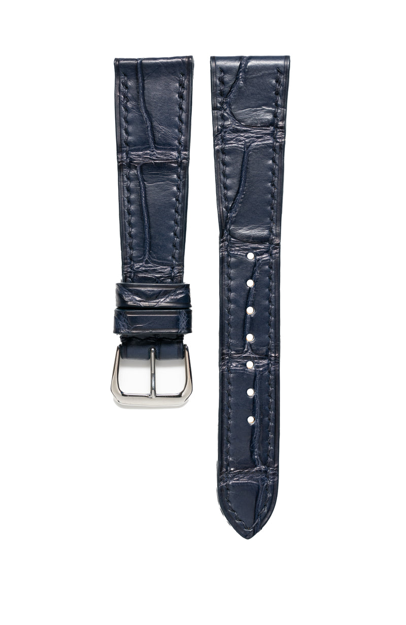Navy Matte Alligator Watch Strap - David Lane Design