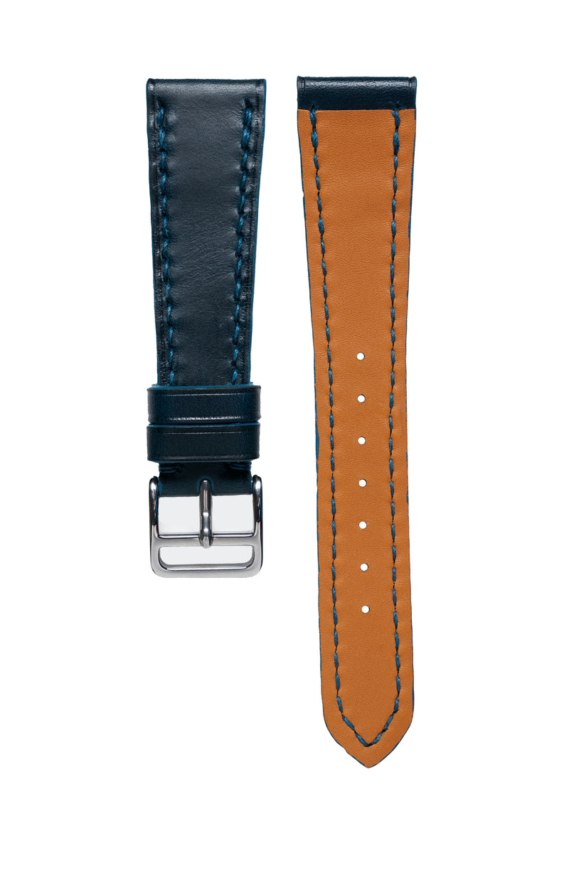 Blue Buttero Calfskin Watch Strap - David Lane Design