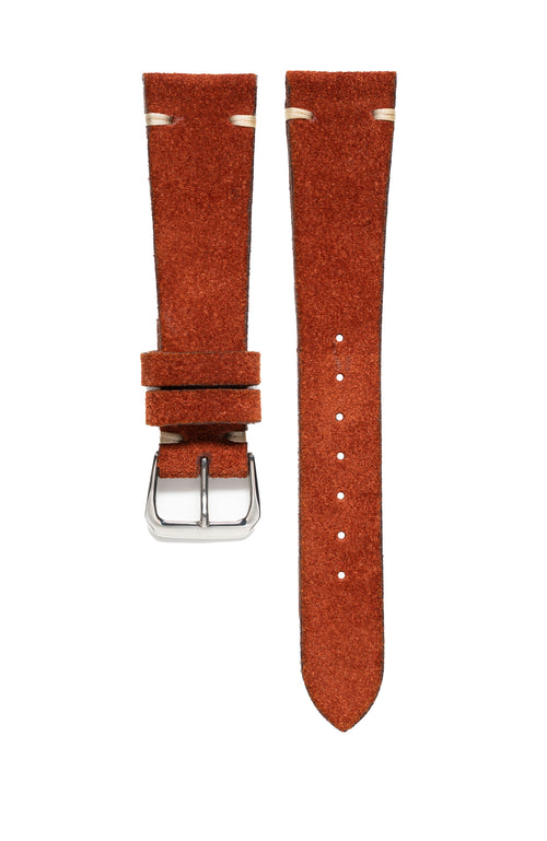 Rust Suede Watch Strap - David Lane Design