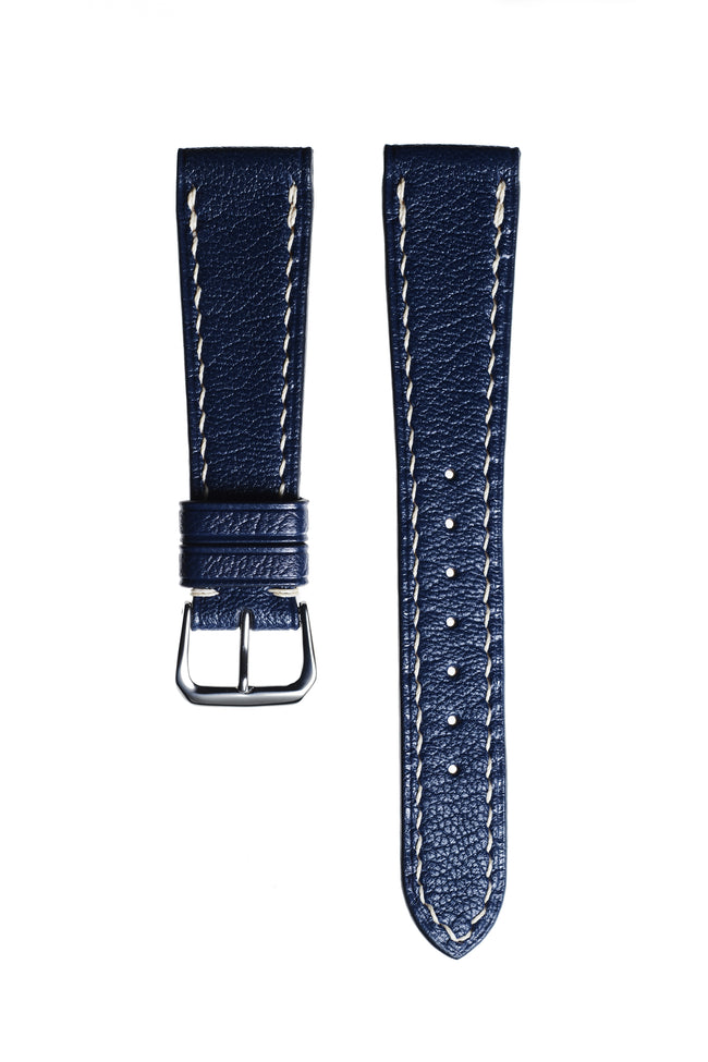 Marine Blue Goatskin Watch Strap - David Lane Design