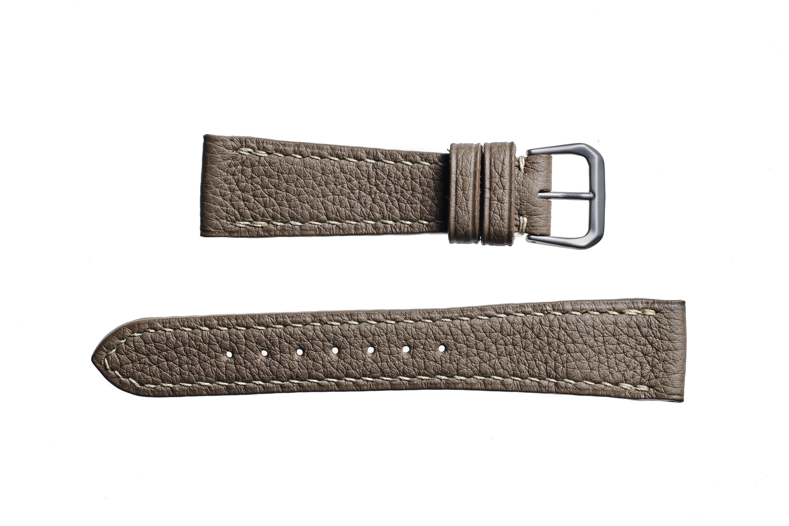 Taupe Alpine Shrunken Calf Watch Strap - David Lane Design