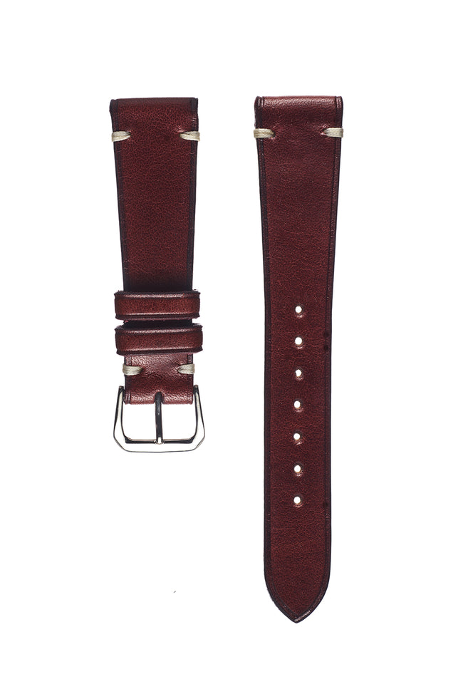 Oxblood Harness Leather Watch Strap - David Lane Design