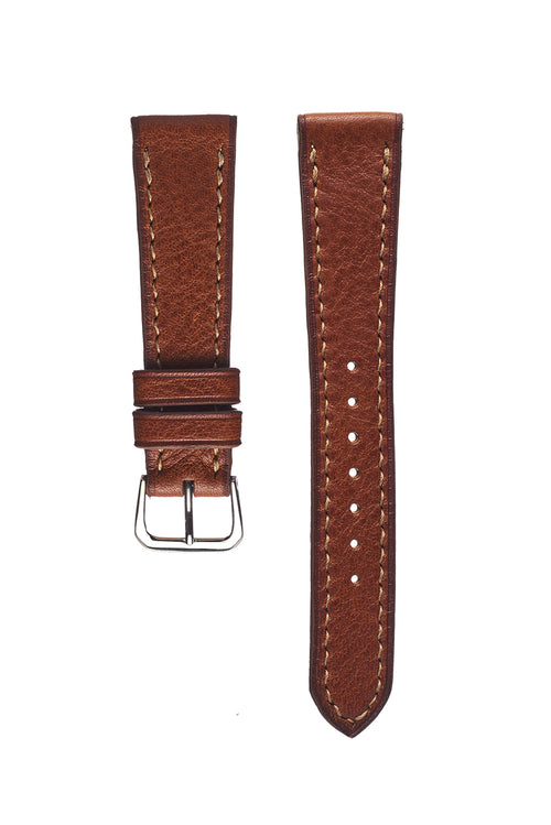 Tan Pebble Grain Calfskin Watch Strap - David Lane Design