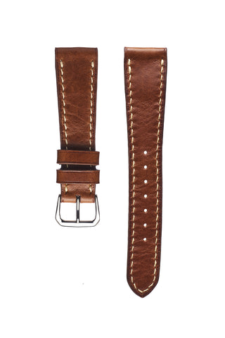 Tan Pebble Grain Calfskin Watch Strap