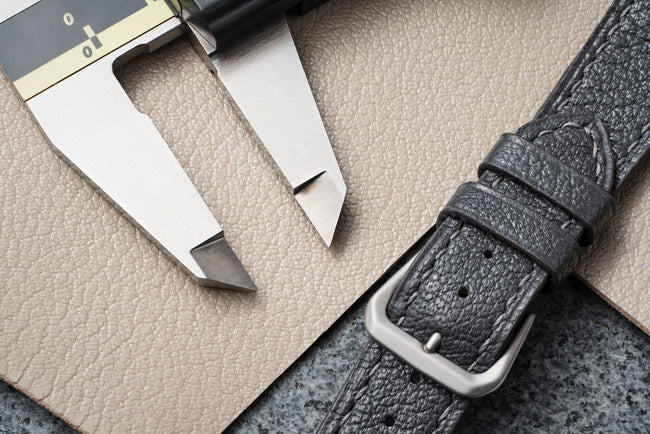 Slate Gray Goatskin Watch Strap