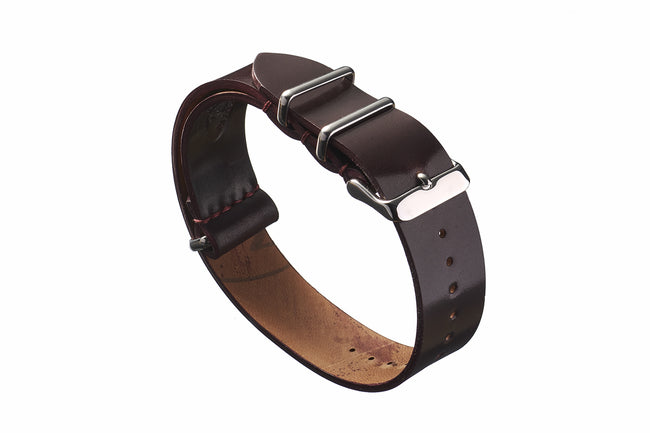 Color #8 Horween Shell Cordovan NATO Strap - David Lane Design
