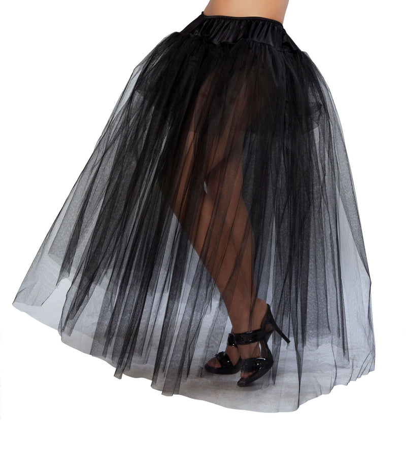 10039- Roma Costume Halloween Full Length Black Petticoat
