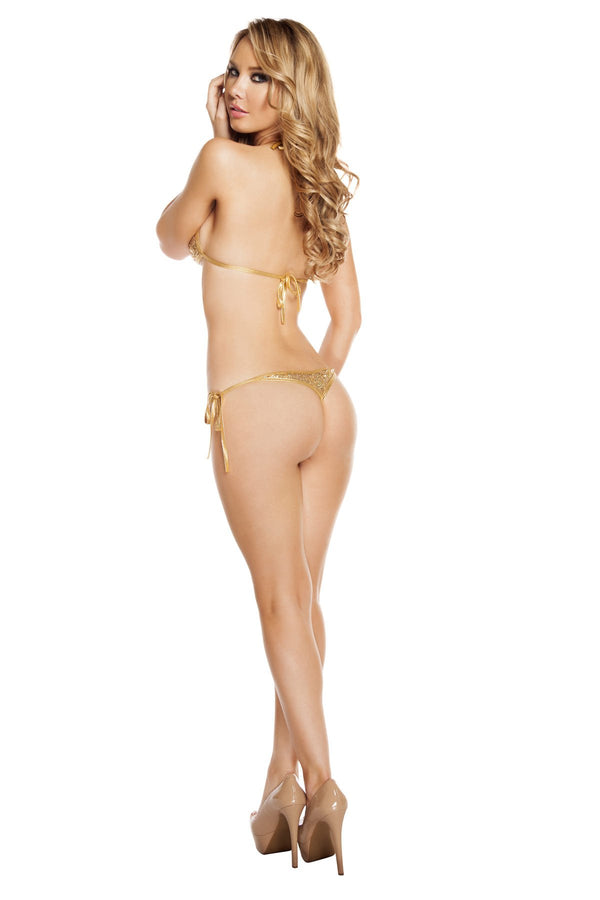 3202 - Low Rise Tie Side Sequin Bikini Set