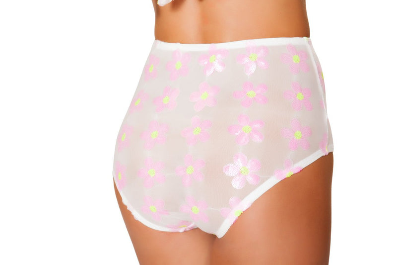 3472 - Roma Rave Baby Pink High Waisted Shorts